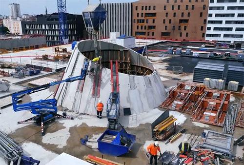 GF MOSELLE réalise un puits de lumière géant pour le centre commercial MUSE