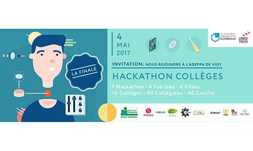 4 mai 2017 : finale du Hackathon Collèges de Moselle