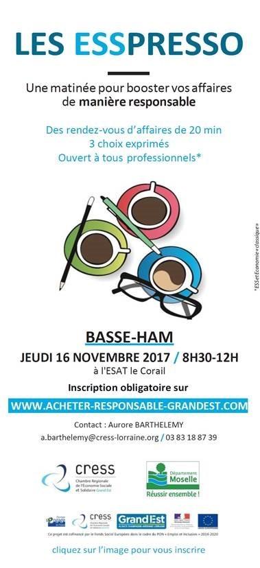 Une matinée ESSPRESSO -achats responsables- à Basse-Ham
