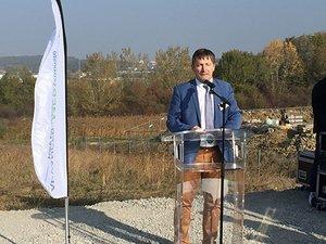 18 octobre 2018 : pose de la première pierre du futur datacentre mosellan