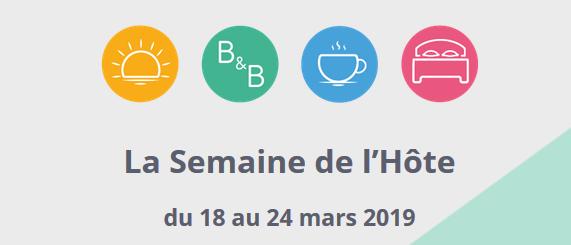 Clévacances France partenaire de la Semaine de l'Hôte du 18 au 24 mars 2019