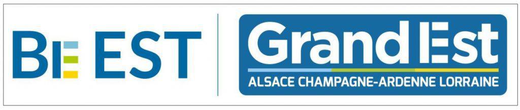 Logos de Be EST et de la Région Grand Est
